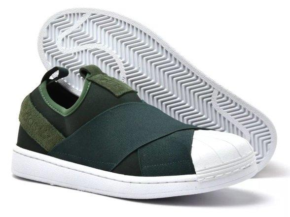 e48875abc Tênis Adidas Slip-On Verde
