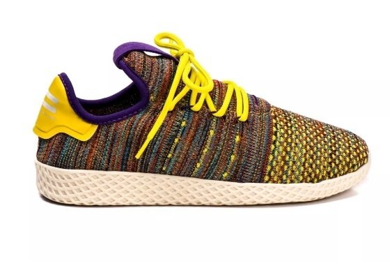 3b57f0836b1 Tênis Adidas Pharrel Williams Hu X Originals Amarelo Colorido (Unissex)