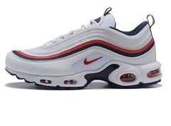 "Tênis Nike Air Max 97 Plus ""White Navy Red"" (Masculino)"