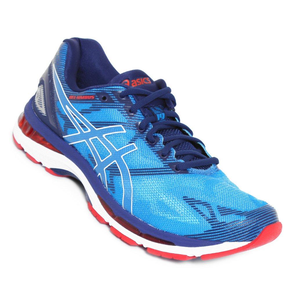 ... Tênis Asics Gel Nimbus 19 Azul C Vermelho (Masculino) ac2f701023734d ... 3677b7822f440