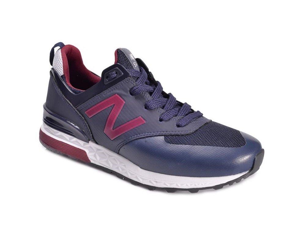 44858f3c2 Tênis New Balance 574 Sport Azul Marinho C/Vinho (Masculino)