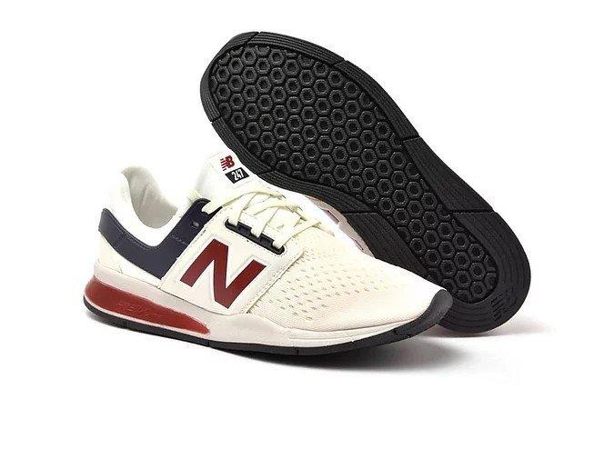 35c1500bcef Tênis New Balance 247 v2 Sport Creme C Vinho (Masculino)
