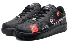 Tênis Nike Air Force 1 Just do It Preto