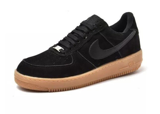 2951109be39 Tênis Nike Air Force 1 Low Preto C Marrom