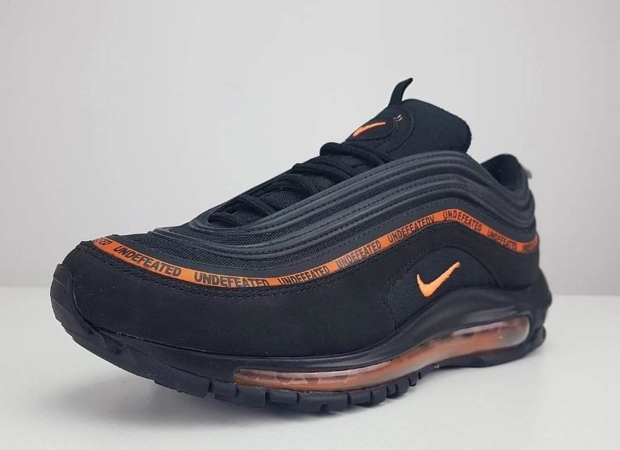 729368582a8 Tênis Nike Air Max 97 Undefeated X Black Dark Orange (Masculino)