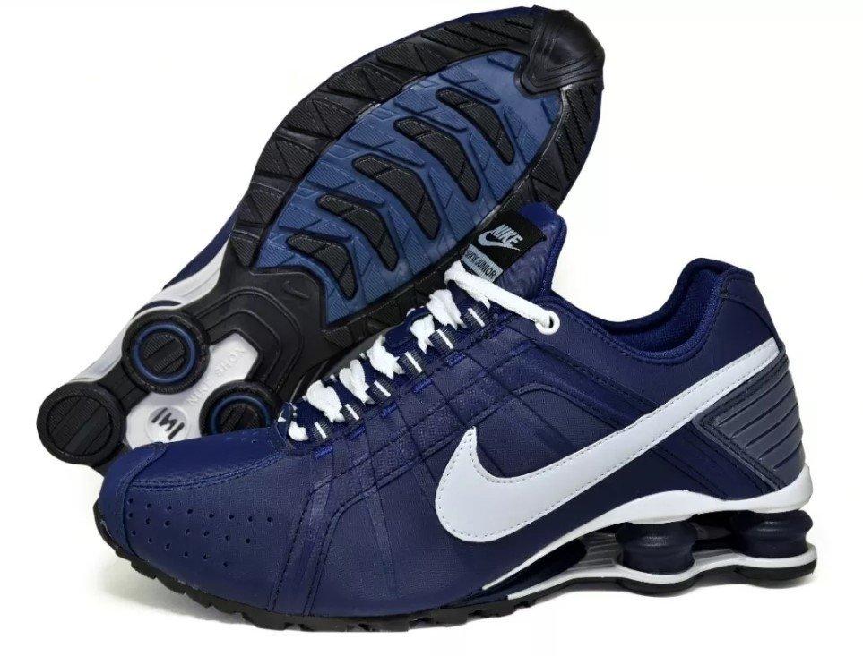 aaad1a3f2f Tênis Nike Shox Junior Azul Marinho (Masculino)