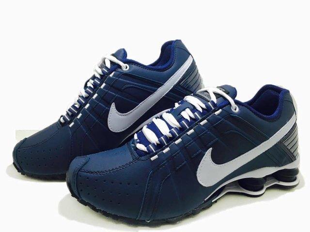 fe346c727ff6 Tênis Nike Shox Junior Azul Marinho (Masculino)