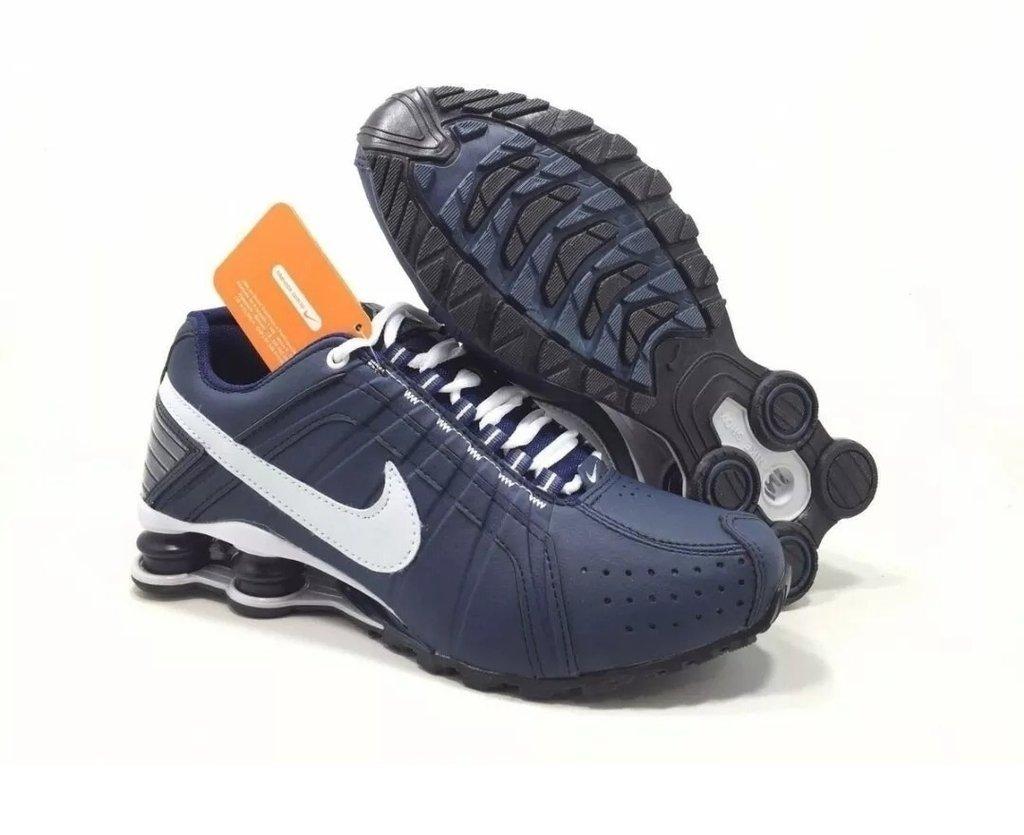 Tênis Nike Shox Junior Azul Marinho (Masculino) dfec0bc04