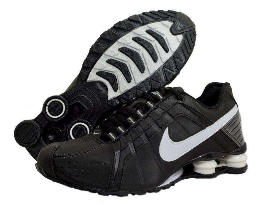 4d7ef5024aeed Tênis Nike Shox Junior Preto C/Branco (Masculino)