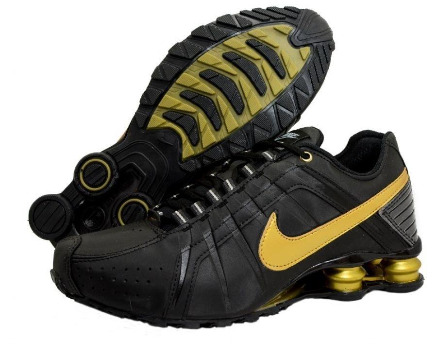 22ab23b018f Tênis Nike Shox Junior Preto C Dourado (Masculino)