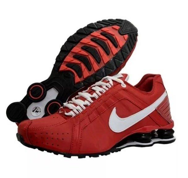 Tênis Nike Shox Junior Vermelho (Masculino) 5debb5457786