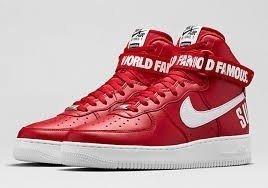 4c9a5cf012a Tênis Nike Air Force Supreme Mid World Famous Vermelho (Masculino)