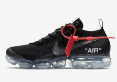 "Tênis Nike Air VaporMax ""AIR"" Flyknit OFF WHITE Triple Black (Masculino) - comprar online"