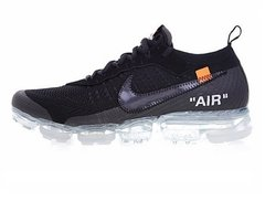 "Tênis Nike Air VaporMax ""AIR"" Flyknit OFF WHITE Triple Black (Masculino)"