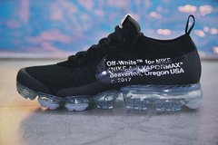 "Tênis Nike Air VaporMax ""AIR"" Flyknit OFF WHITE Triple Black (Masculino) na internet"