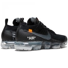 "Tênis Nike Air VaporMax ""AIR"" Flyknit OFF WHITE Triple Black (Masculino) - loja online"