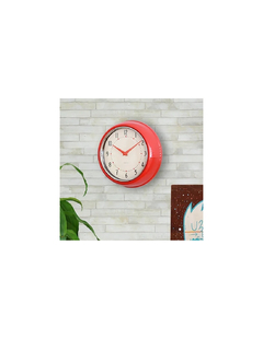 RELOJ DE PARED RETRO ROJO en internet