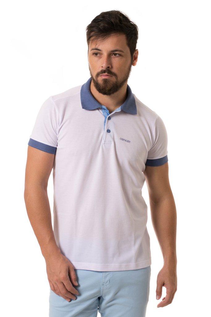 75f4ed3418 Camisa Pólo Osmoze Duas Cores Branca 109111356-00002