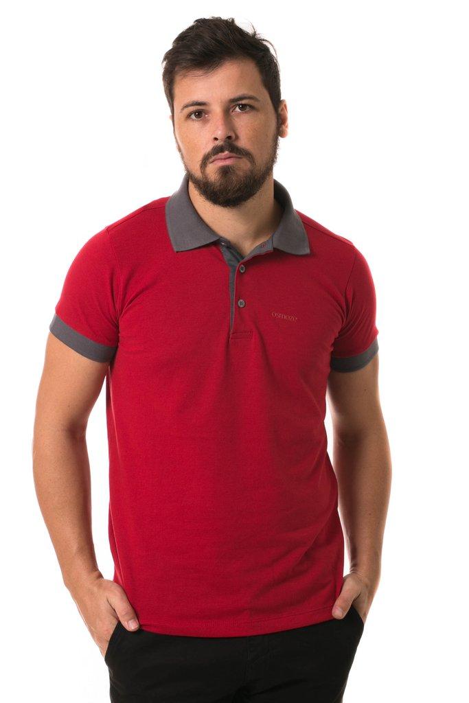 d470da47f0 Camisa Pólo Osmoze Duas Cores Vermelho 109111356-00004