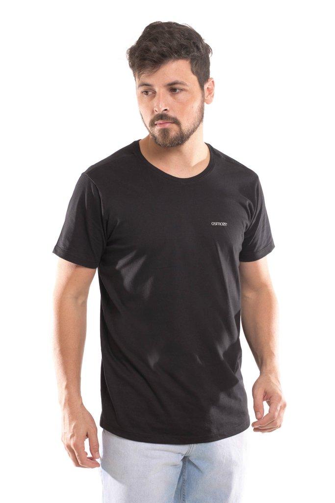 a41999a802 Camiseta Osmoze Gola Redonda com logomarca Preta