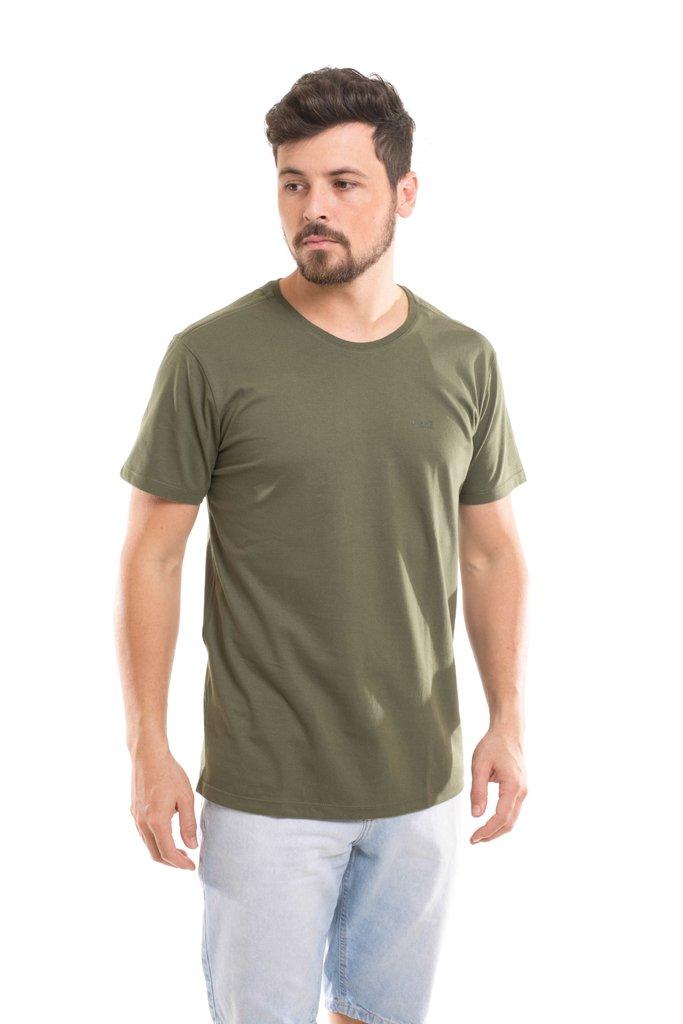 0b00a11f07 Camiseta Osmoze Gola Redonda com logomarca Verde Militar Comprar