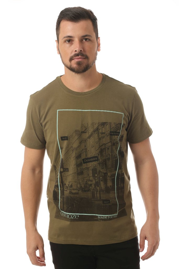 Camiseta Osmoze Downtown Verde
