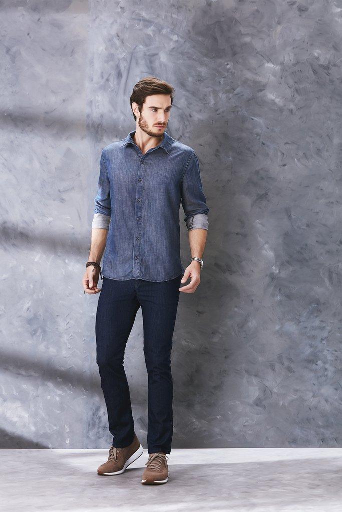 d80c6a12a3 Calça Jeans Osmoze Slim Fit Azul