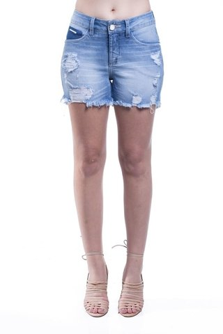 Shorts Jeans Jeans Osmoze Mid Rise Angie Plus Cor Única na internet
