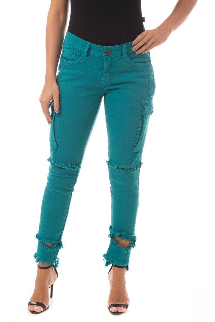 f369686f5a Calça Jeans Osmoze Skinny Turquesa