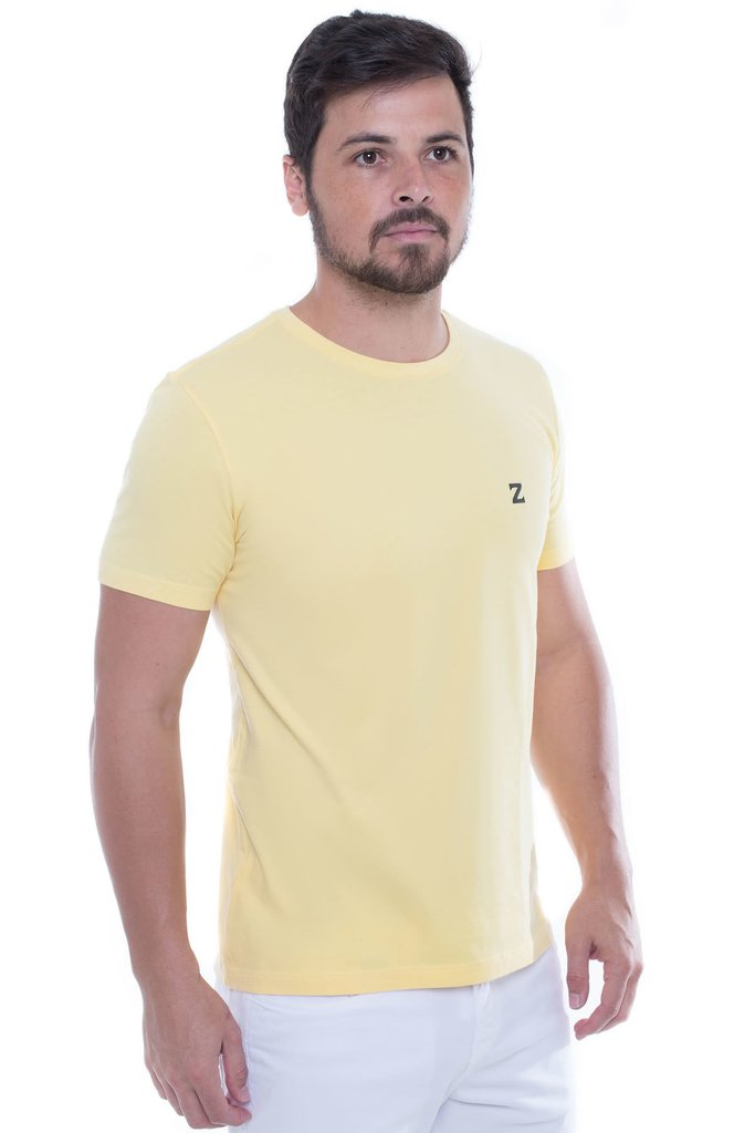 Camiseta Basica Colors Amarelo