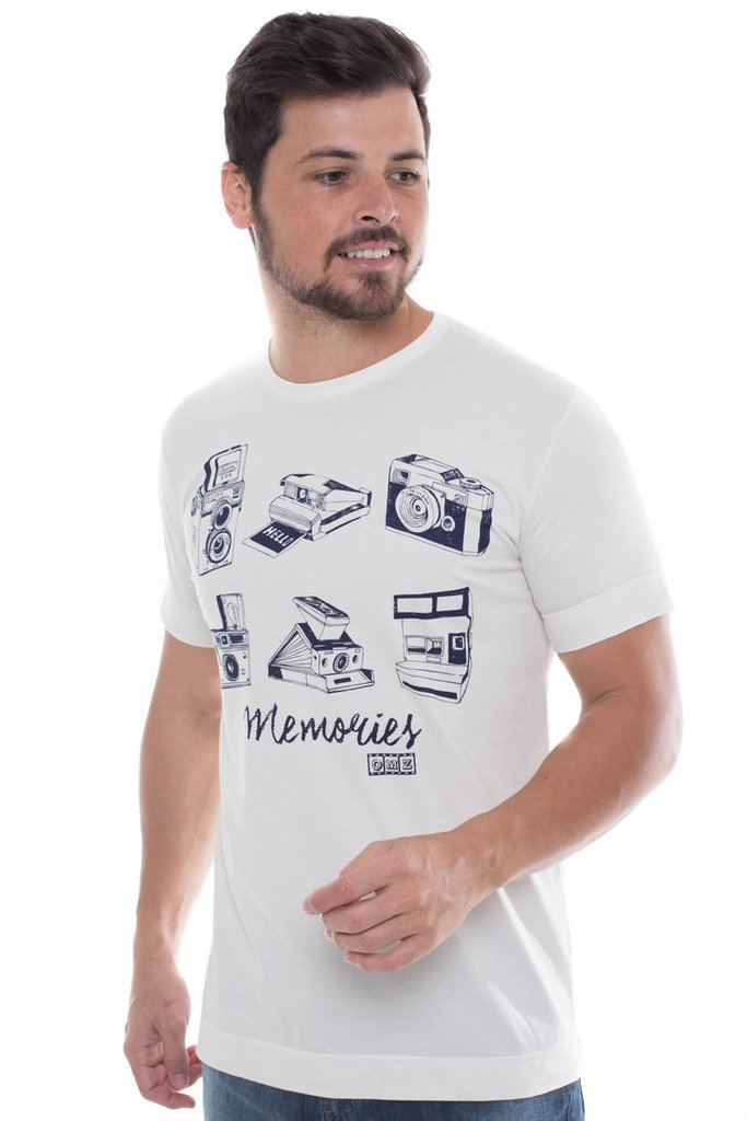 T-Shirt Osmoze Estampada Off White