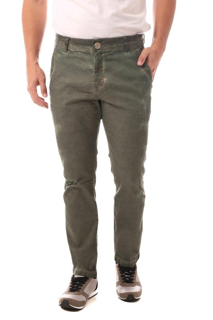 e4a75d95de Calça Jeans Denuncia Casual Verde Militar Calça Jeans Denuncia Casual Verde  Militar - comprar online ...