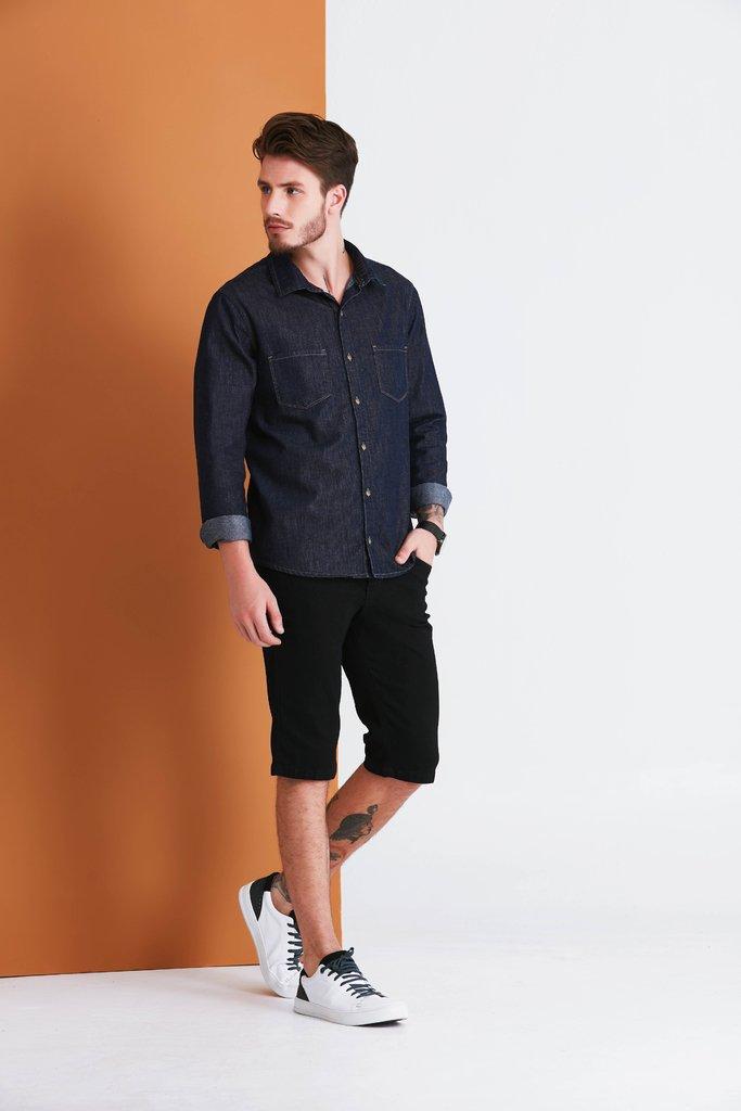 158c4c3cd6 Bermuda Jeans Denuncia Middle Plus Azul 103323120-00001