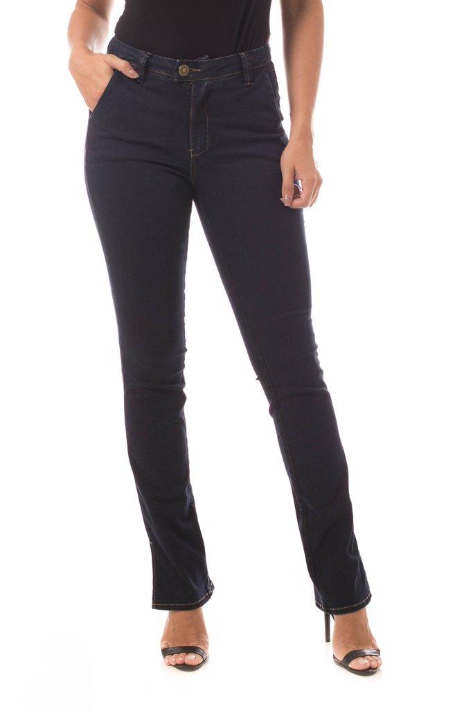9896da3e8e Calça Jeans Denuncia Mid Rise Slim Azul