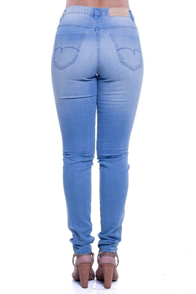 e8df2838c ... Calça Jeans Denuncia Mid Rise Skinny Azul - comprar online ...