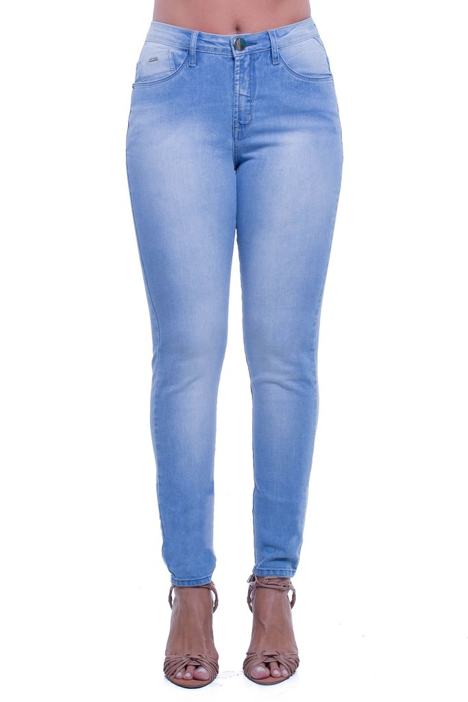 8460ada5f Calça Jeans Denuncia Mid Rise Skinny Azul