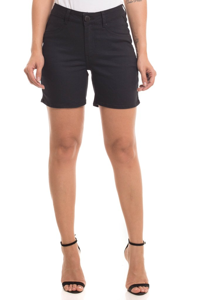 Shorts Denuncia Mid Rise Middle Azul