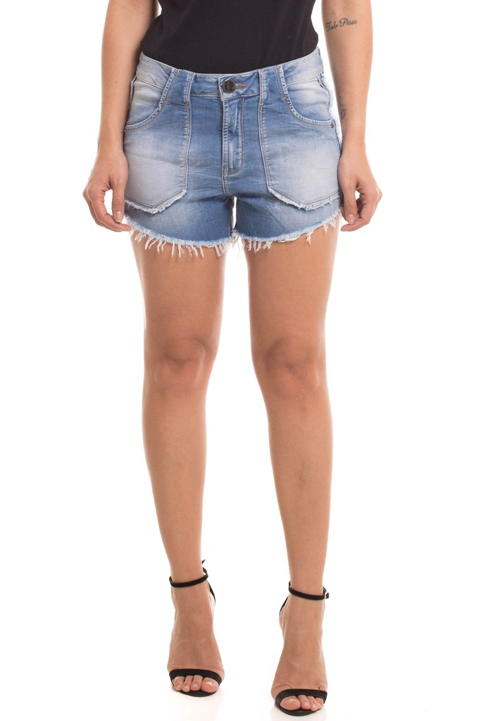 Shorts Denuncia Mid Drop Azul