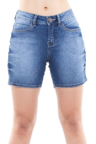 Shorts Denuncia Mid Rise Middle Azul - Denuncia Jeans Store