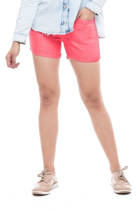 Shorts Denuncia Mid Rise Angie Plus Rosa