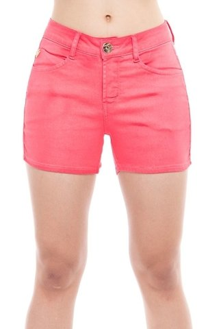 Shorts Denuncia Mid Rise Angie Plus Rosa - Denuncia Jeans Store