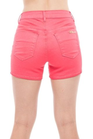 Shorts Denuncia Mid Rise Angie Plus Rosa - comprar online