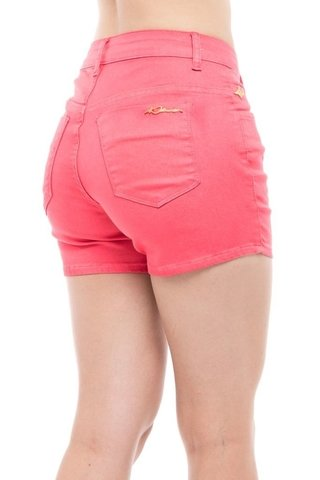 Shorts Denuncia Mid Rise Angie Plus Rosa na internet