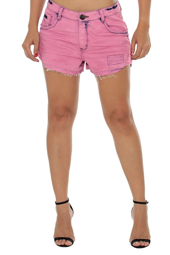 Shorts Denuncia Mid Drop  Rosa