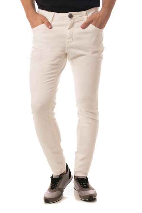 Calça Jeans Eventual Super Skinny Off White