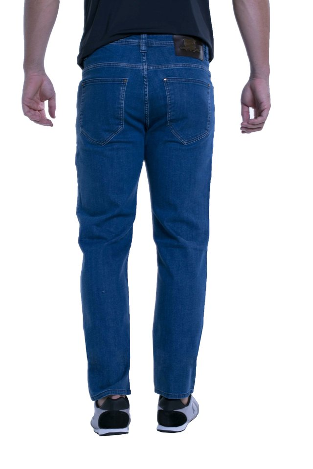 Calça Jeans Eventual Slim Fit Azul na internet