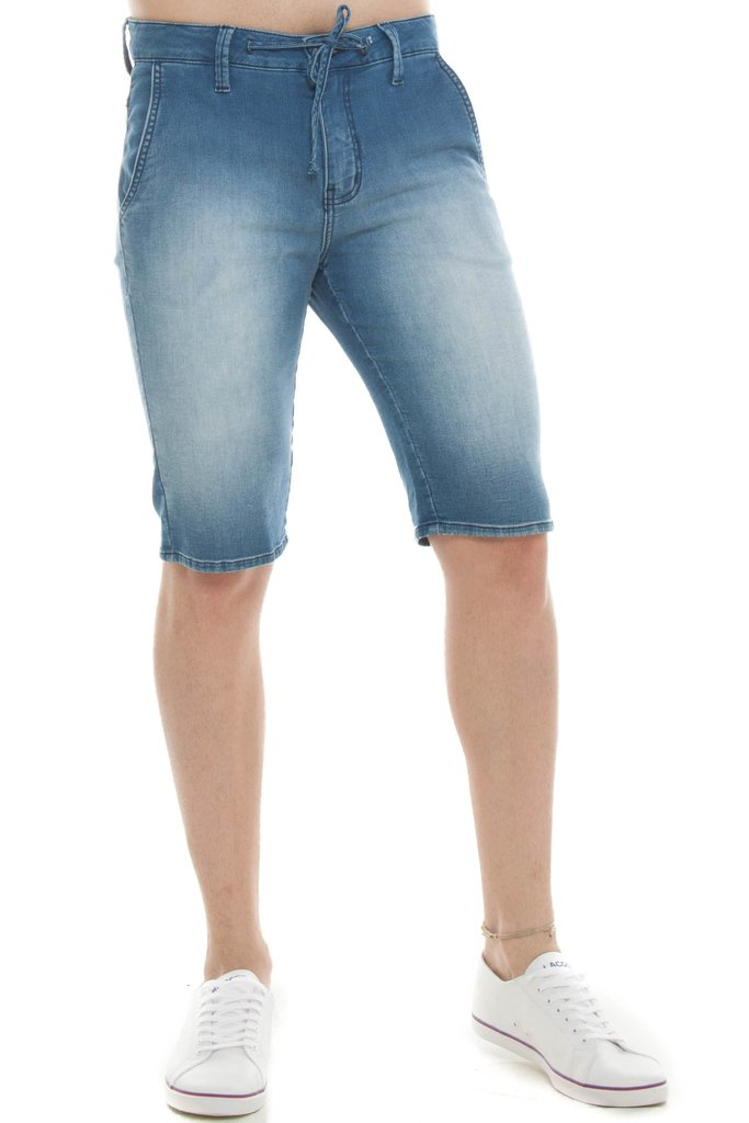 Bermuda Jeans Eventual Middle Plus Azul