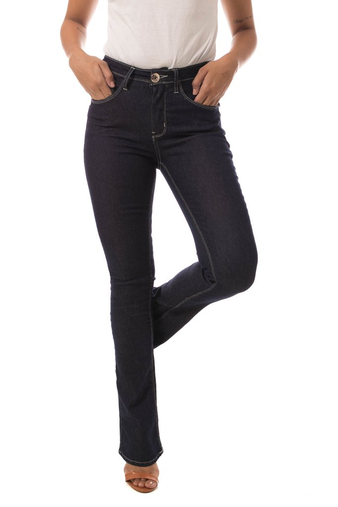 Calça Jeans Eventual Boot Cut New Azul