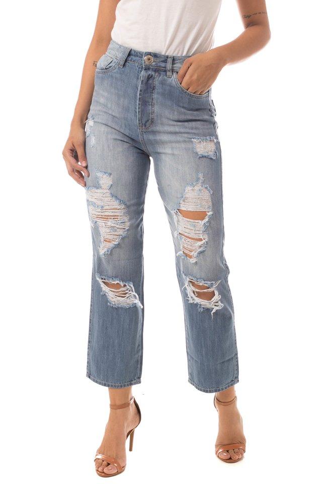 06002ab5e41ad3 Calça Jeans Eventual Mom Azul