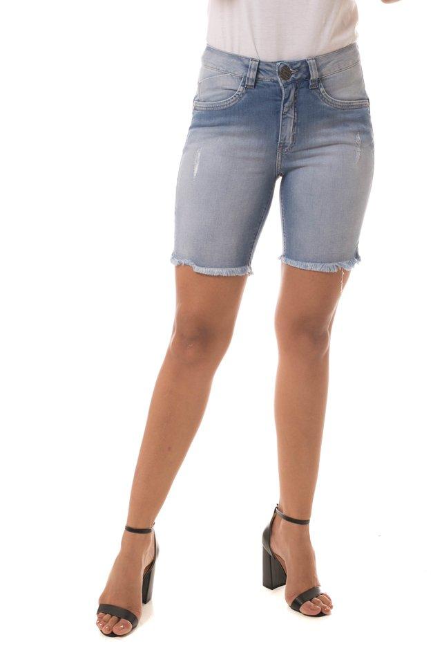 e08dc016b Bermuda Jeans Eventual Mid Rise Meia Coxa Azul